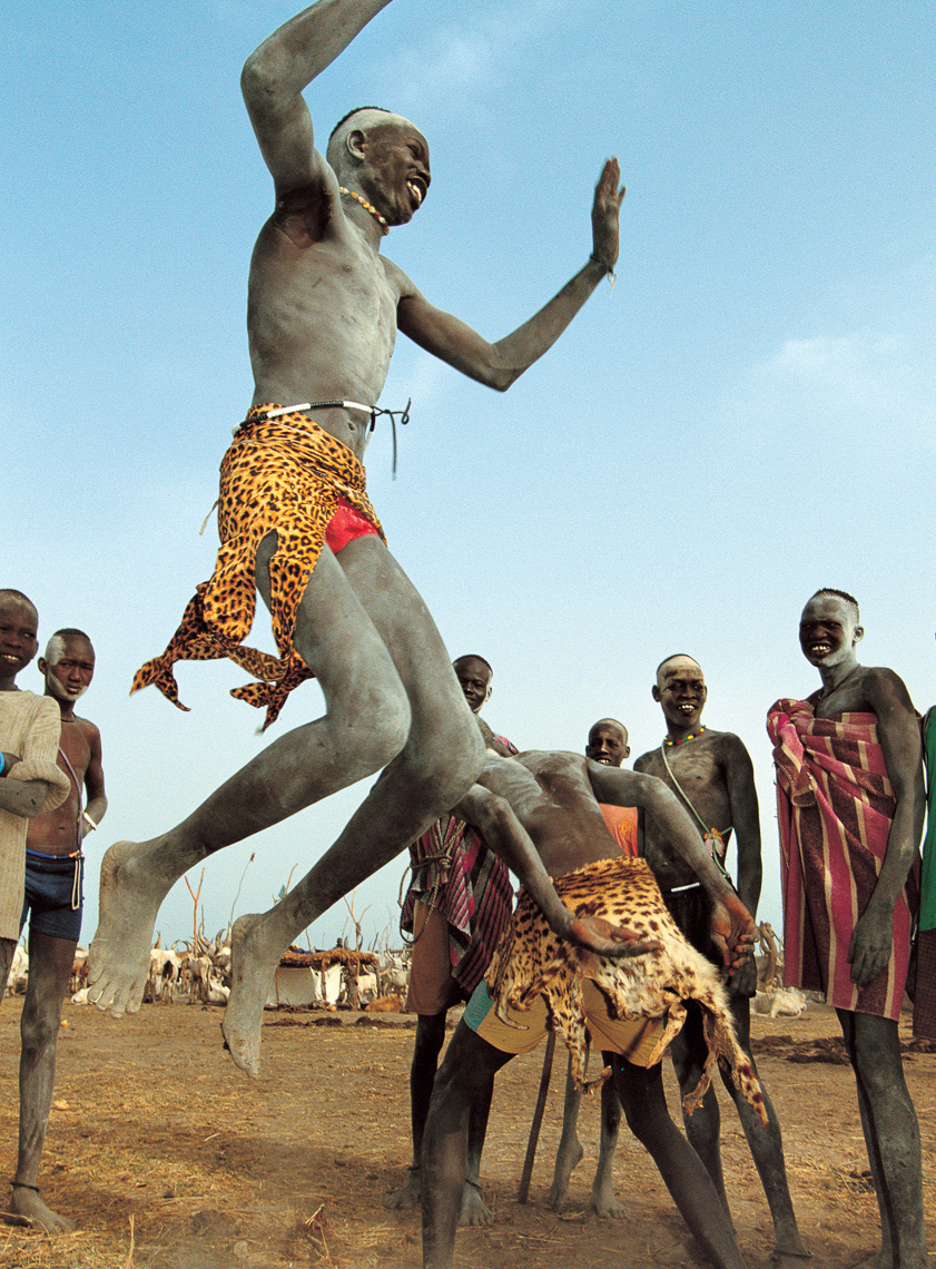 Leaping Dinka Wrestler, South Sudan
