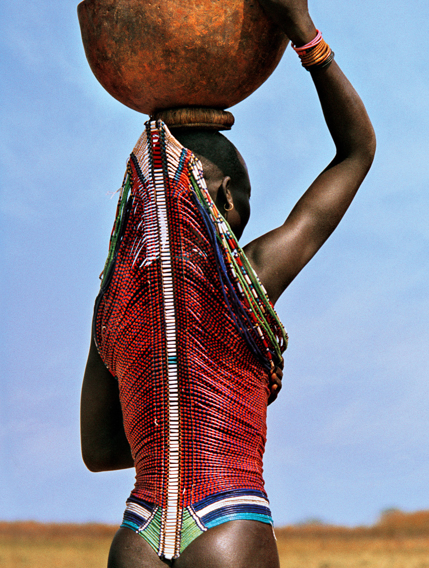 Dinka Woman with High Backed Corset, South Sudan
