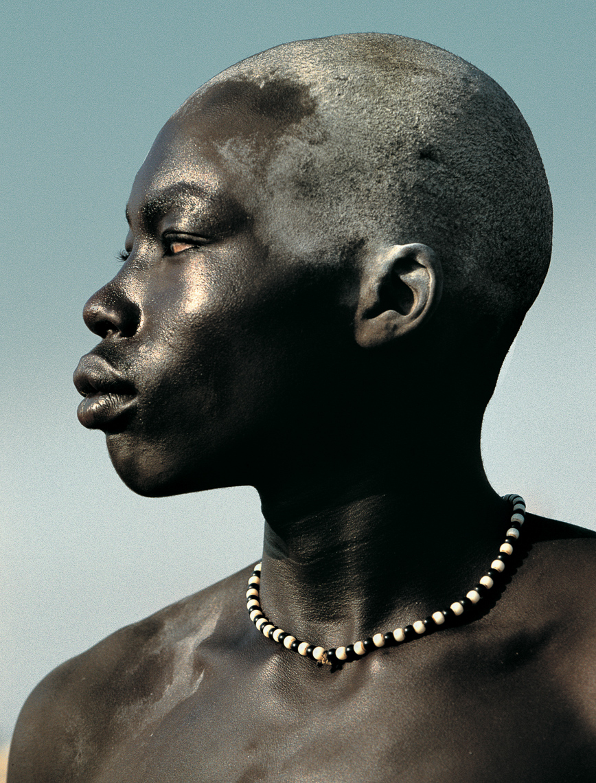 Dinka Wrestler Painted with Oil, South Sudan