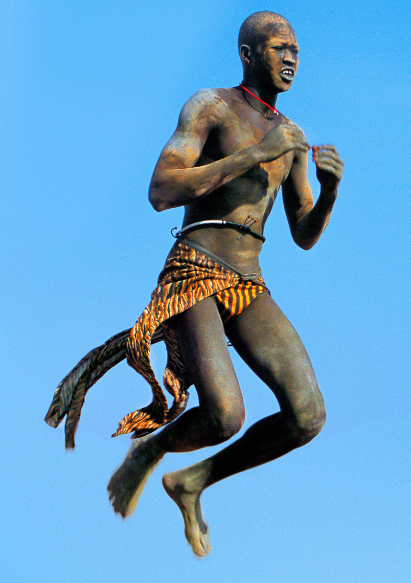 Leaping Dinka Man, South Sudan