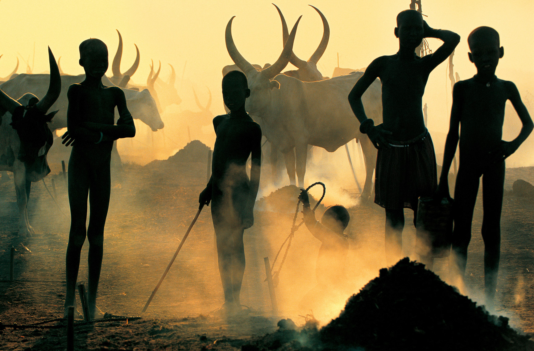 Dinka Children at Cattle Camp, South Sudan