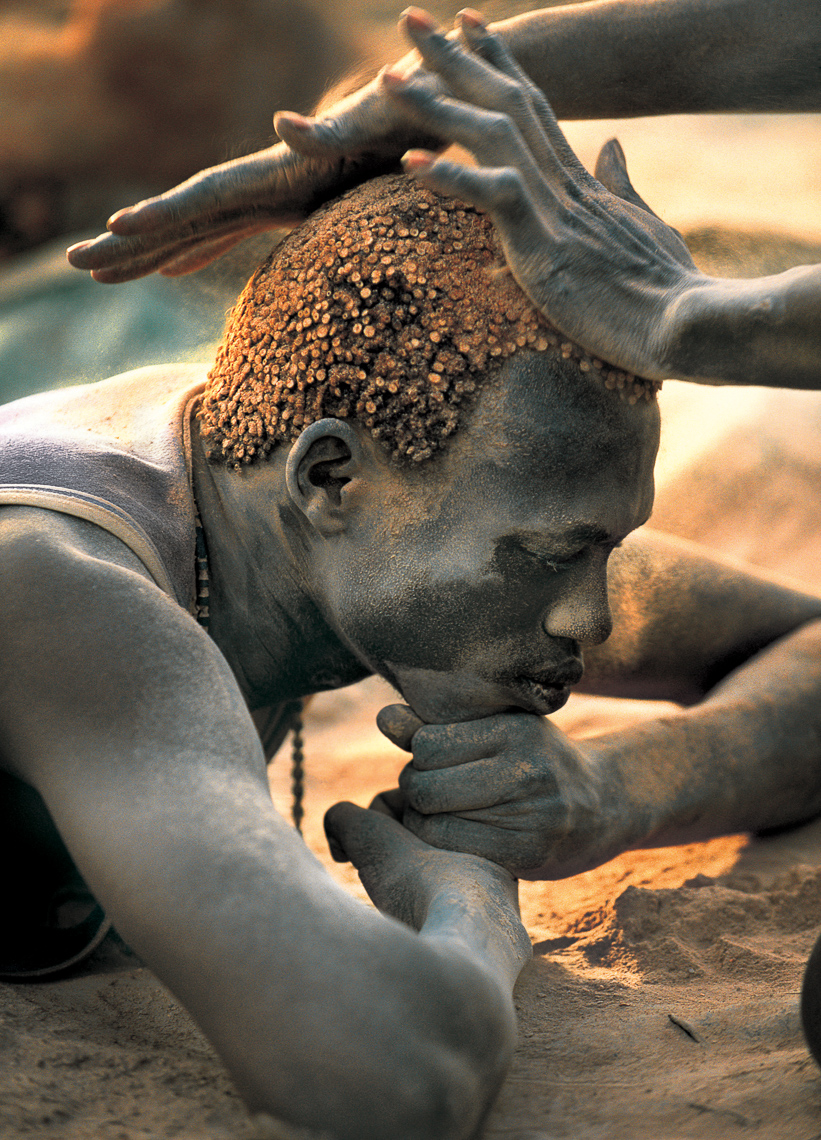 Dinka Man with Ash Covered Hair, South Sudan