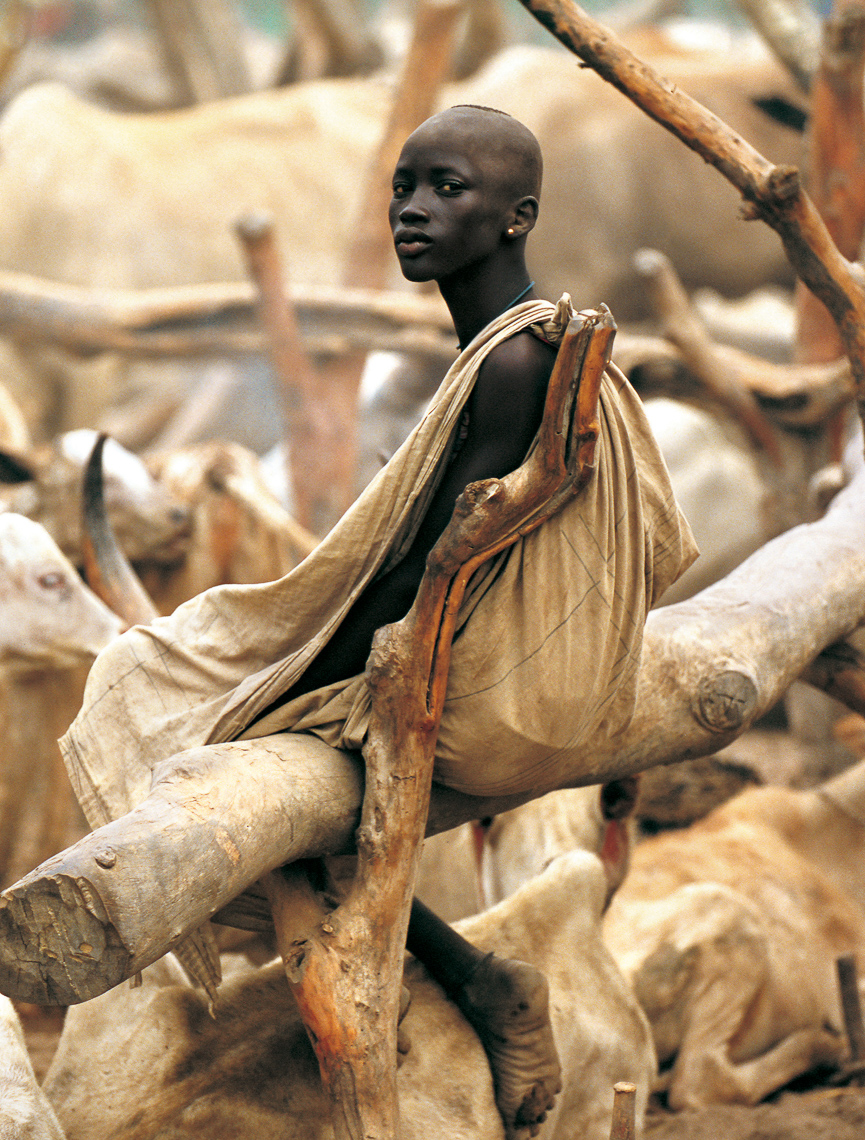 Dinka Woman at Cattle Camp, South Sudan