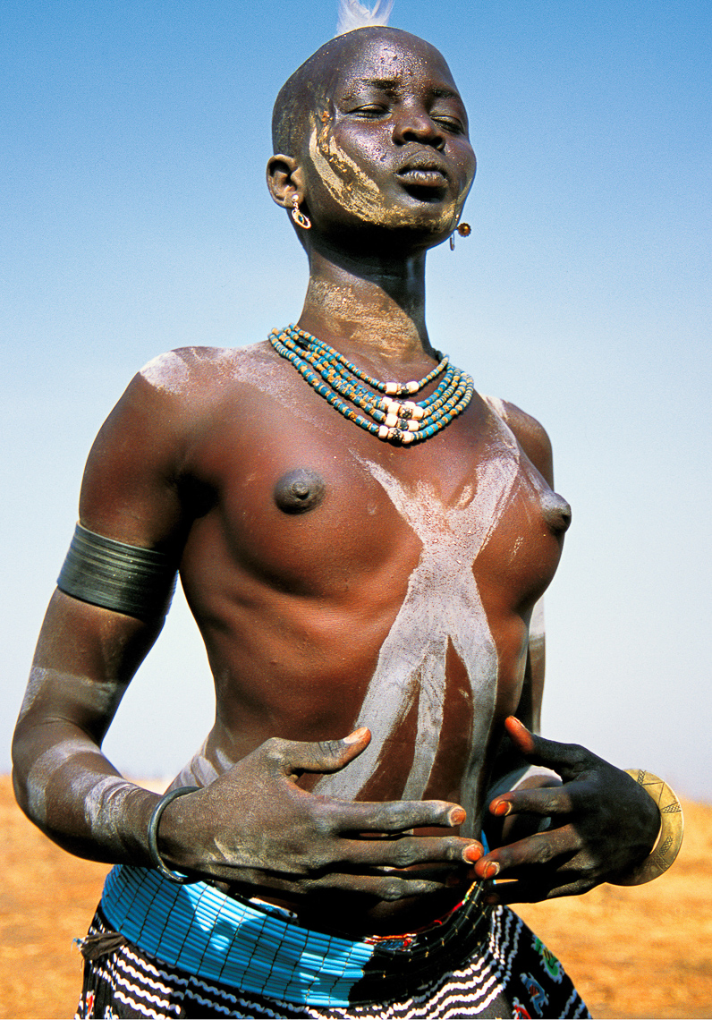 Dinka Woman Daubed with Ash, South Sudan