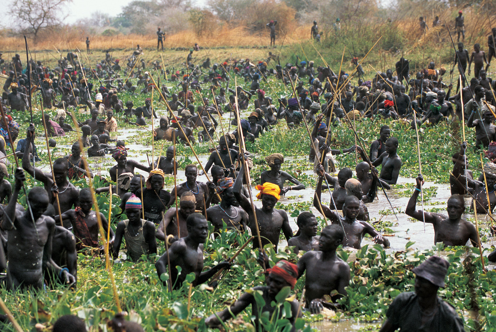Dinka Fishing Gathering, South Sudan
