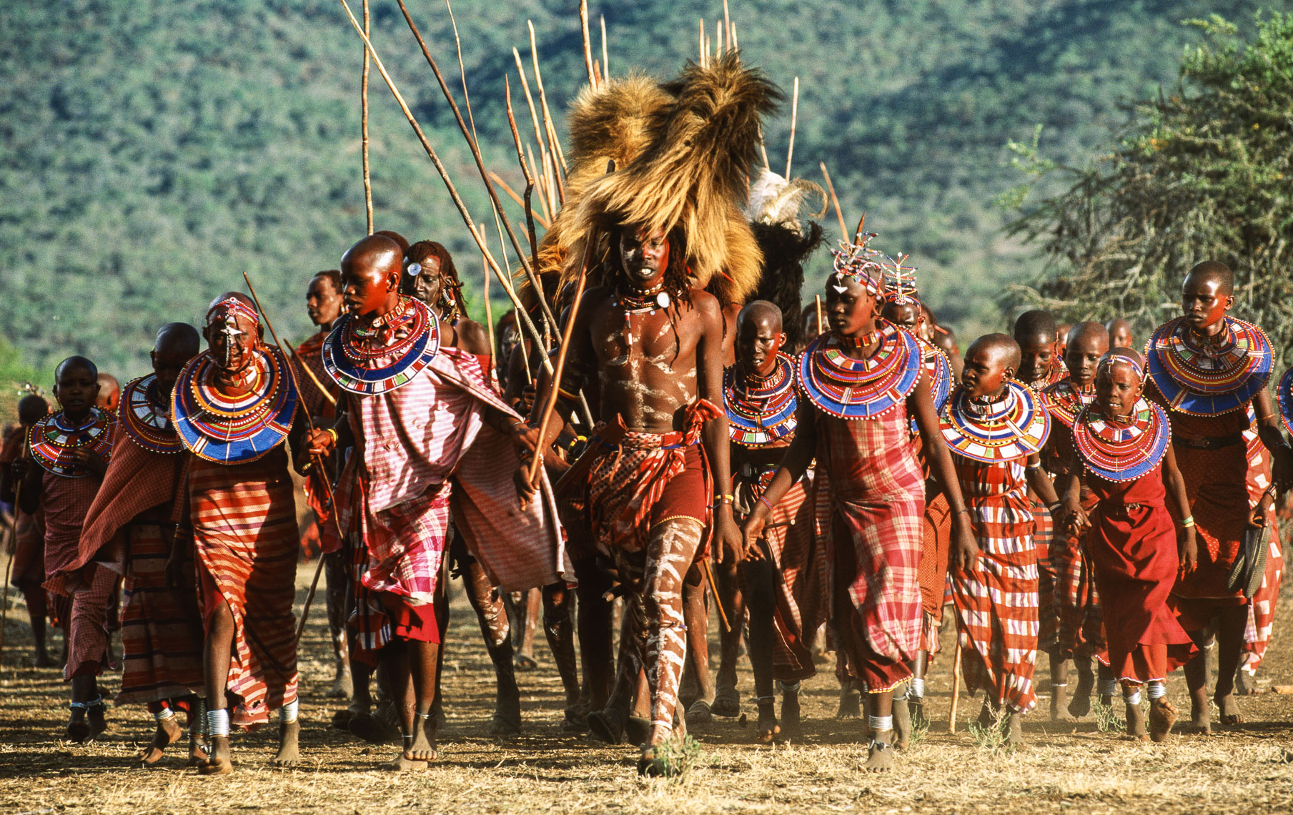 Maasai Warriors Arriving at Eunoto Ceremony