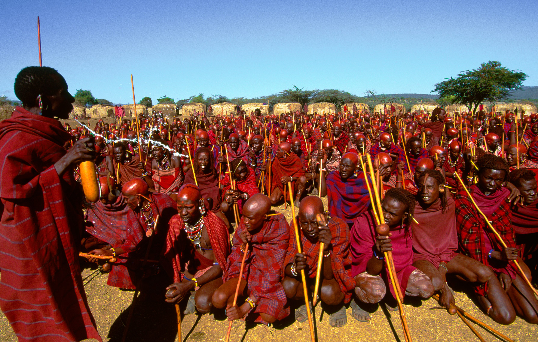 Maasai Initiates Receiving Blessings of Elders