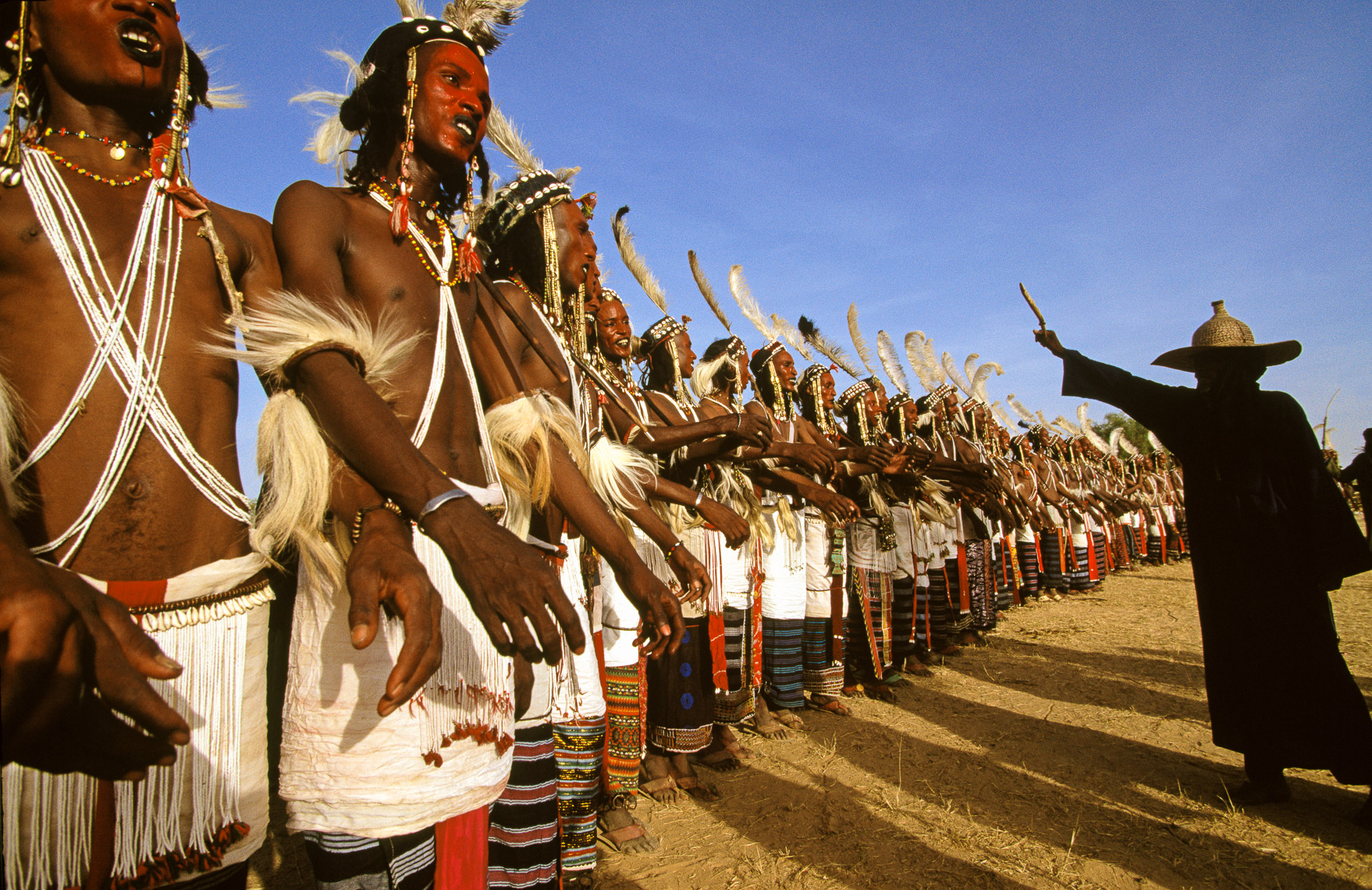 Wodaabe Men Performing Geerewol Beauty Dance