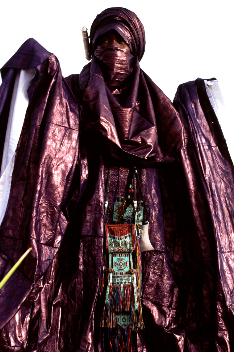 Tuareg Man Wearing Indigo Robes