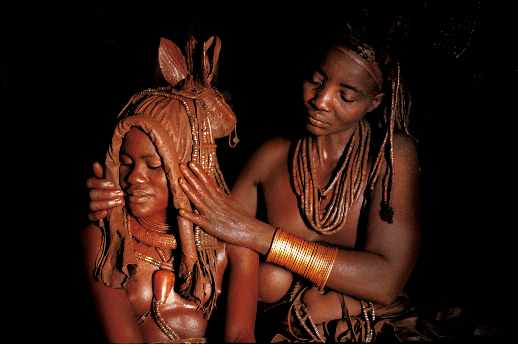 Himba Bride with Mother