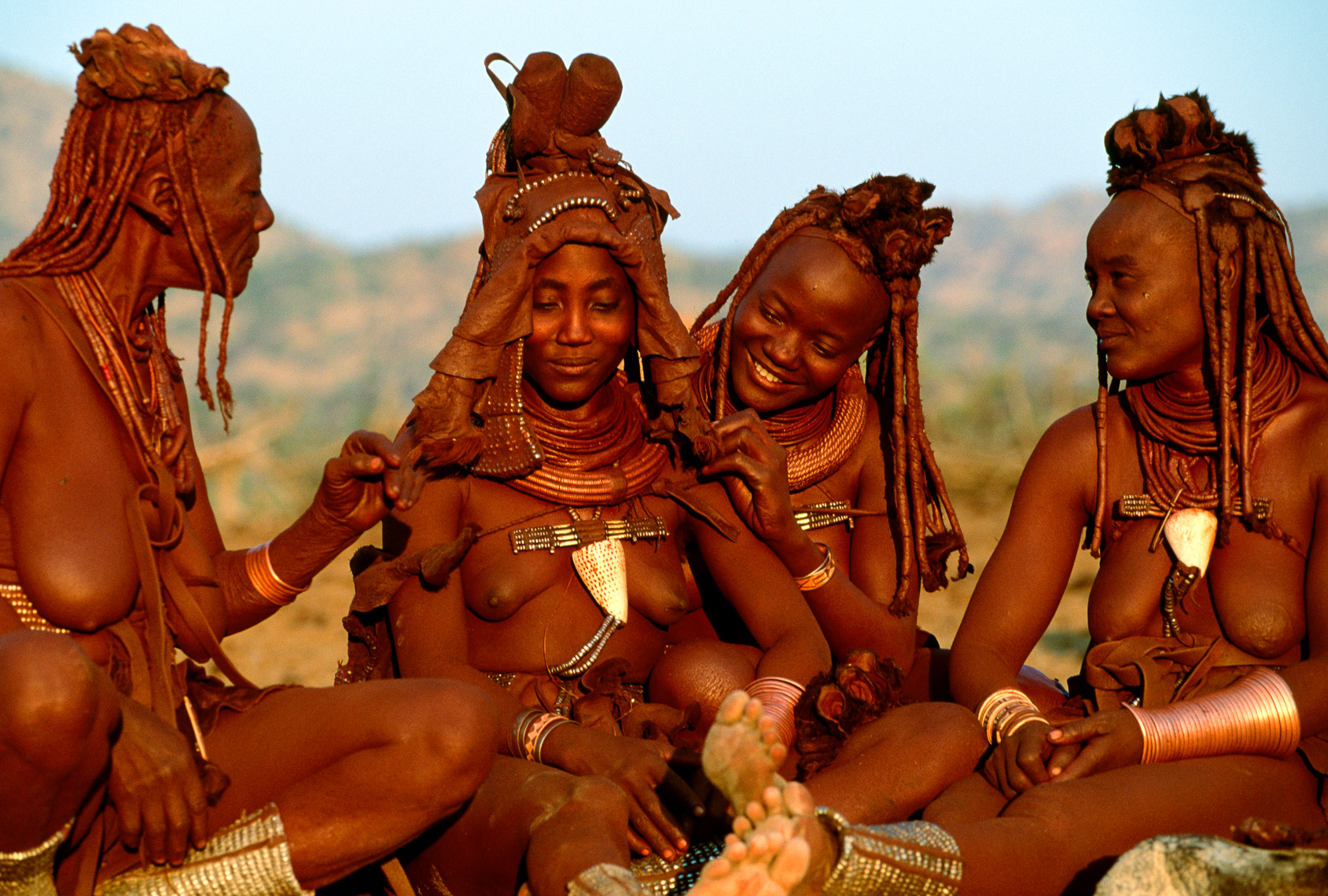 Himba Bride with Female Companions