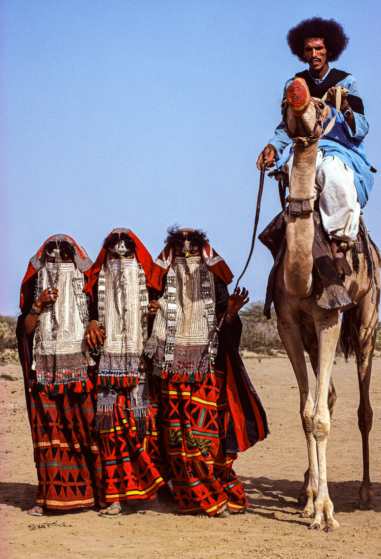 Rashaida Man with His Three Wives