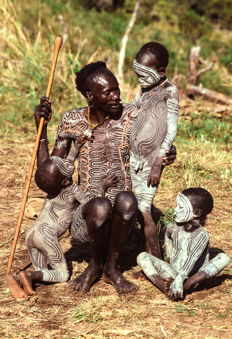 Surma Father with His Children