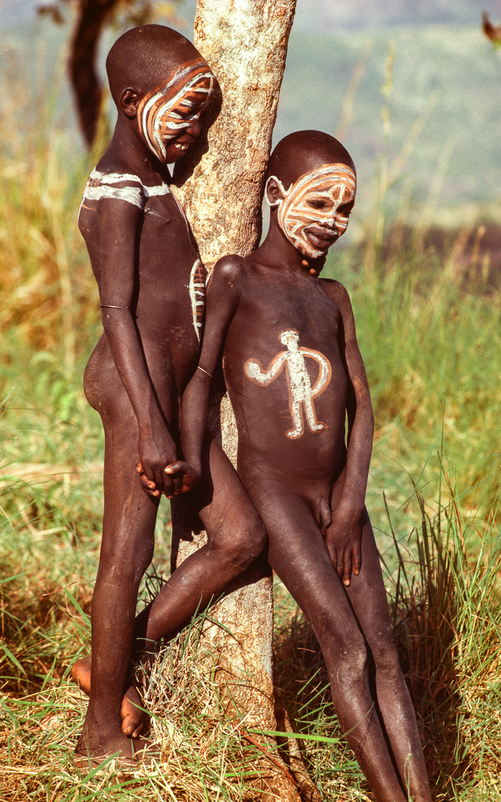 Painted Surma Children