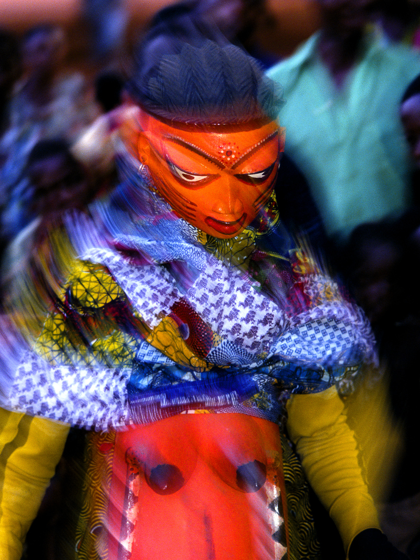 Daguno Mask Portraying Pregnant Girl
