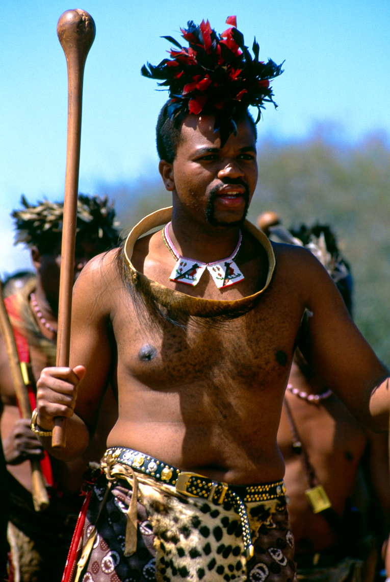 King Mswati III at Reed Dance