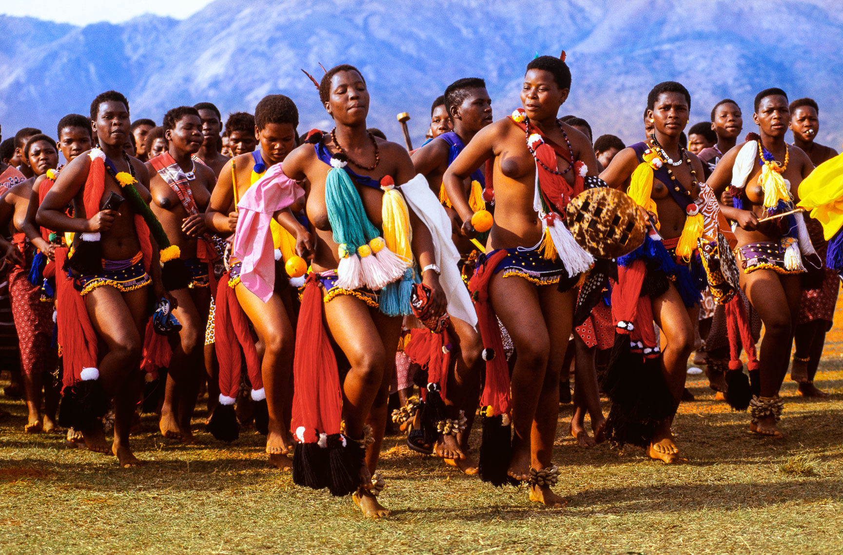 Swazi Maidens Performing for the King
