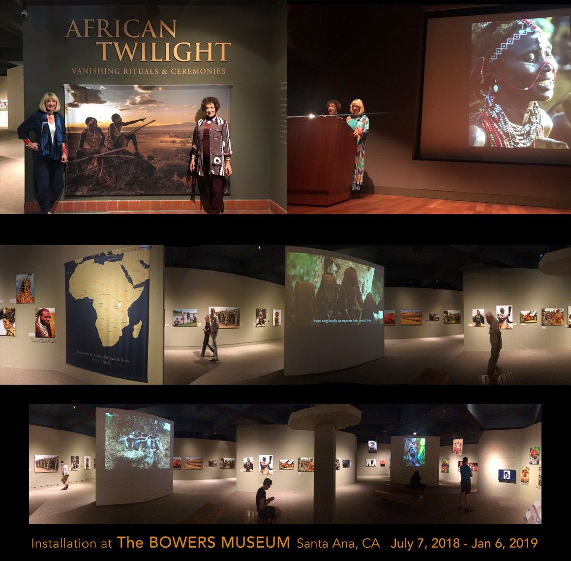 African Twilight exhibition installation at the Bowers Museum preview