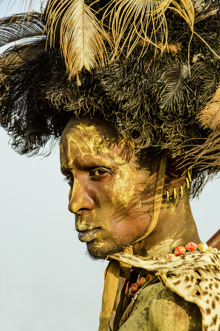 Dassenech Elder Dressed for the Dimi Ceremony, Ethiopia