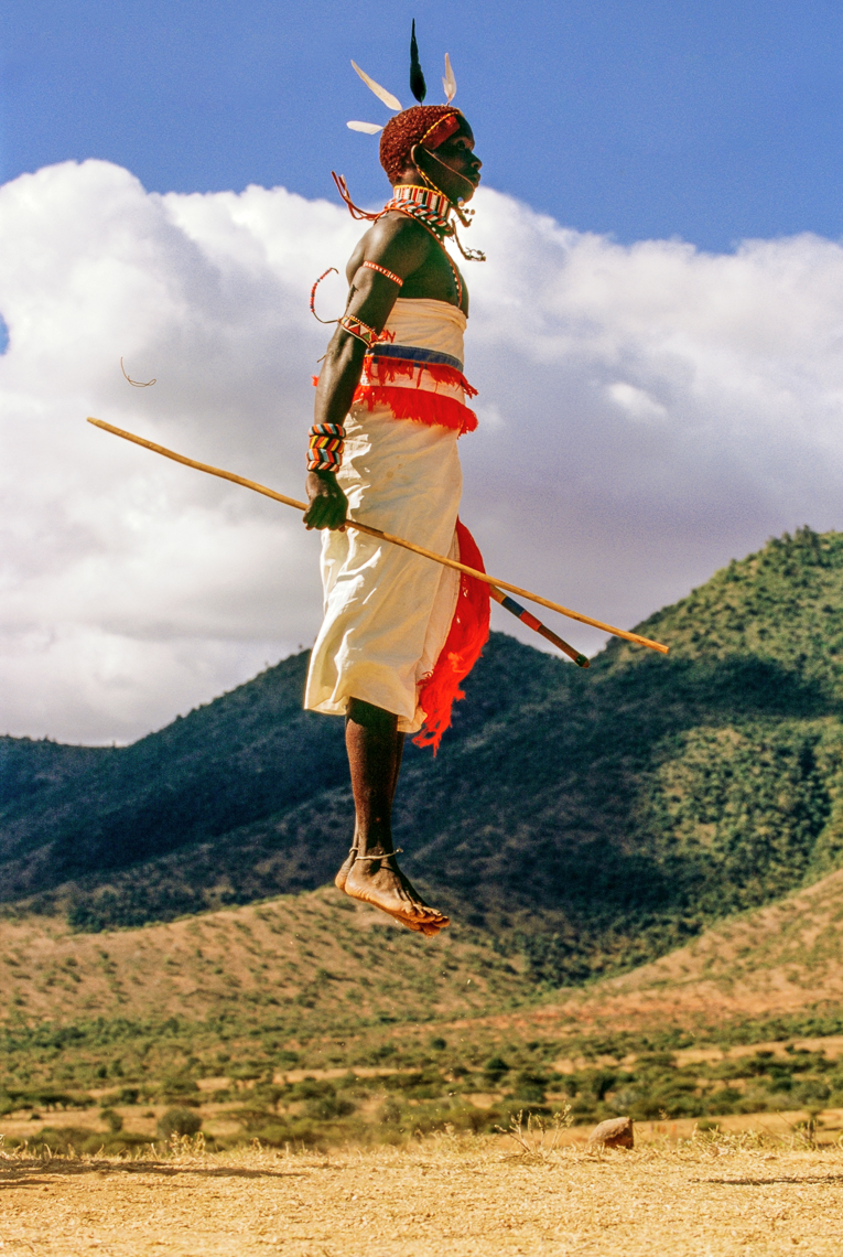Samburu Warrior Dancing, Kenya.