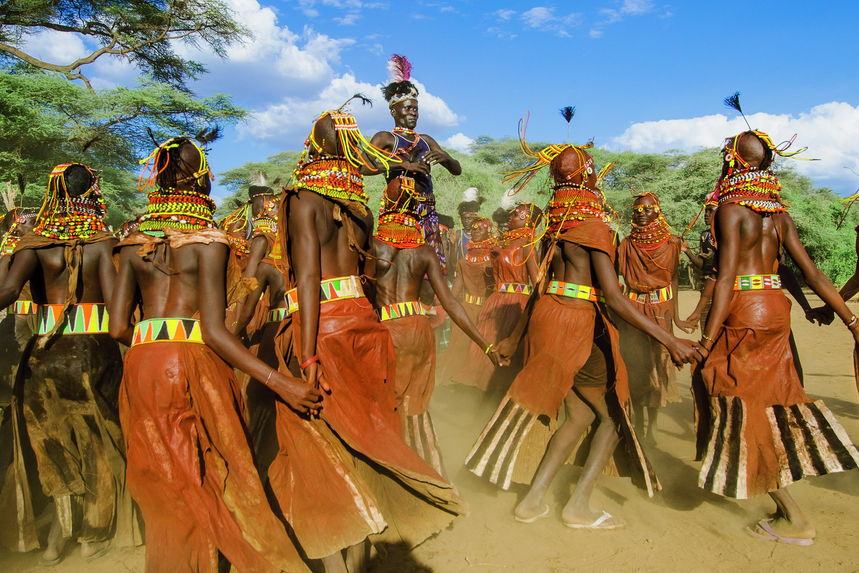 Turkana Courtship Dance, Kenya