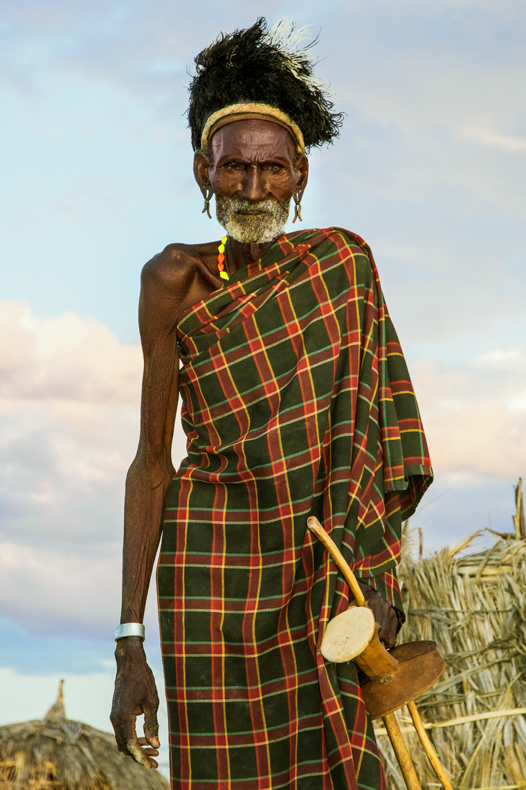 Turkana Male Elder, Kenya