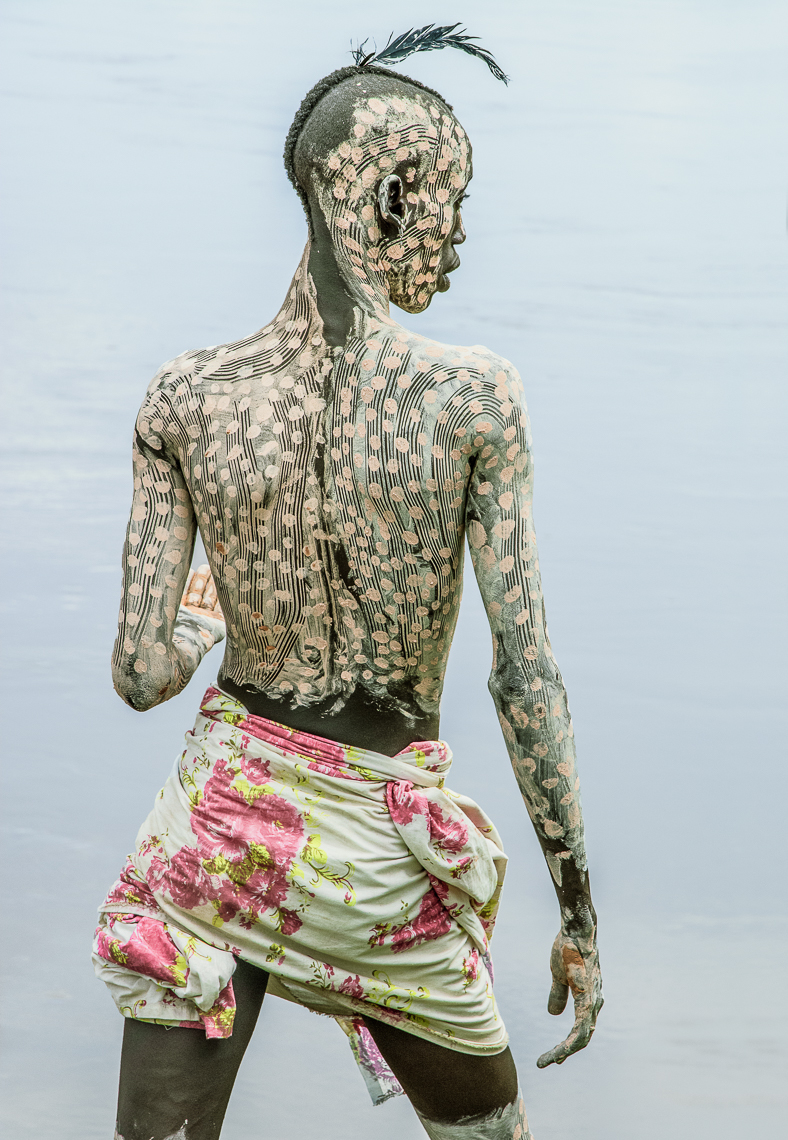 Kara Man Painted for Courtship, Omo Valley, Ethiopia