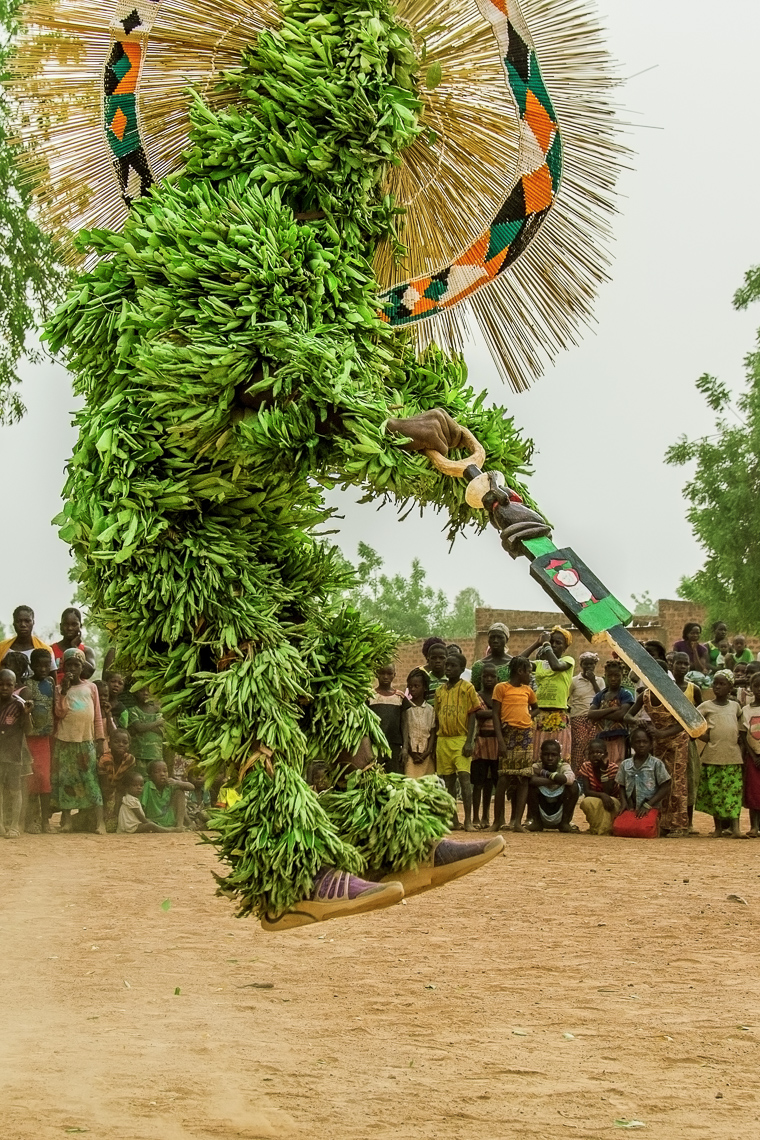 Sacred Leaf and Raffia Mask, Burkina Faso