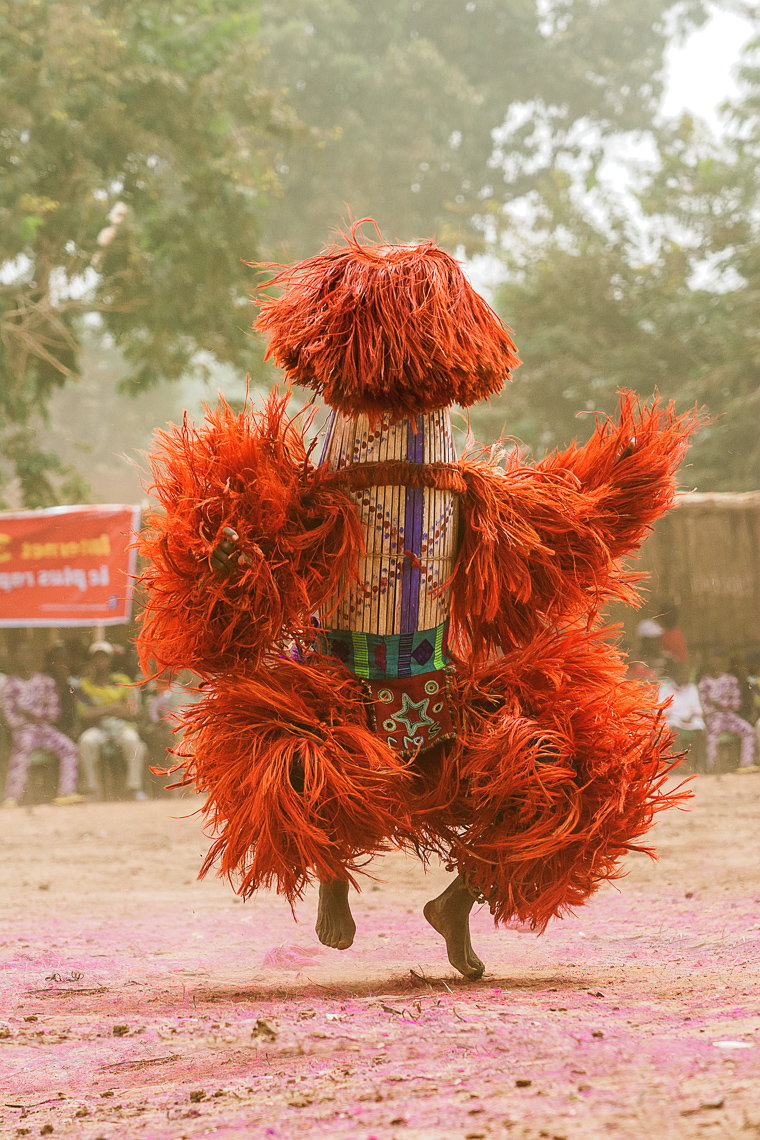 Raffia Harvest Mask, Burkina Faso