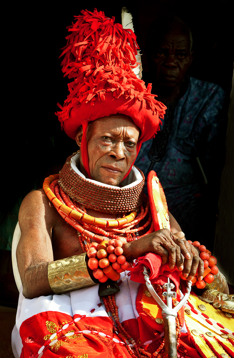 Chief in his Igue Regalia, Benin City, Nigeria